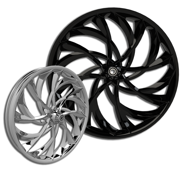 3D El Kurwa custom motorcycle wheel