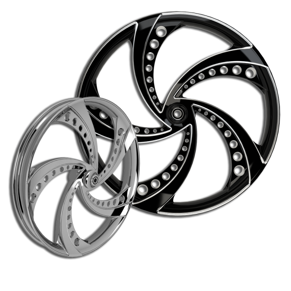 3D Super-Sonic custom motorcycle wheel